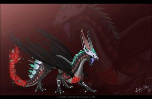 Commission: Angry Umbra. by PandiiVan