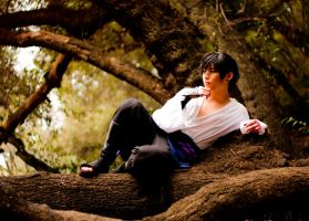Sasuke Chilling by BertLePhoto