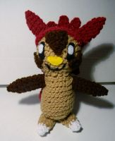 Shiny Chespin ami by gwilly-crochet