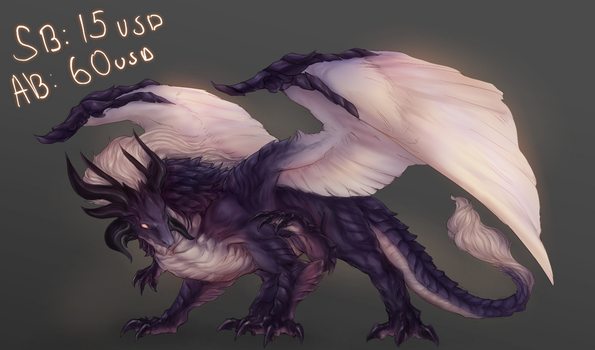 A.D. Dark moth dragon auction closed by ElkaArt