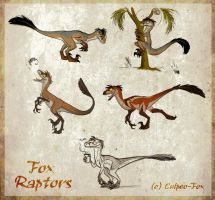 Moar Fox Raptors by Culpeo-Fox