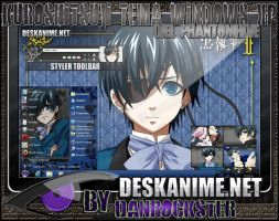 Ciel Phantomhive Theme Windows XP by Danrockster