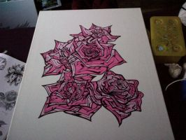 Roses in progress by SUREGRAFFITI