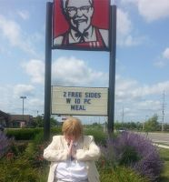 Pray to the fried Chicken overlords. by Drool-Prince