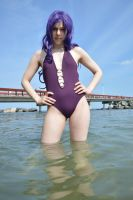 Misato's beach day 8 by shelle-chii
