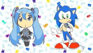 Miku and Sonic by S-concept