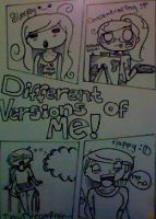 Different Versions of Me by SillyArtist