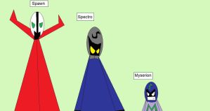 Spectro, Spawn And Myserion by LRW0077