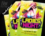 Ladies Night Party Flyer Template PSD by REMAKNED
