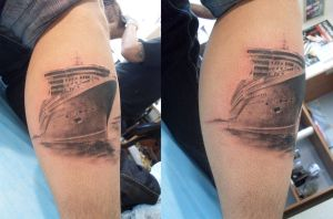 queen mary 2 by vangoghtattoo