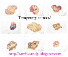 temporary tattoos by zambicandy