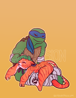 TMNT Commission: Sleepy Kitty by ceece-45