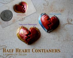 Half Heart Containers by GandaKris