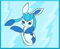 Shiney Glaceon by TwilightTheEevee