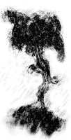 Black and white tree concept by ValhallaAsgard