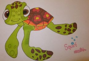 Squirt Disney Drawing by chloesmith8