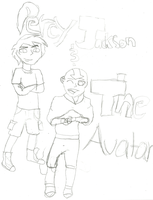 PJ And the Avatar Cover sketch by Firenation771