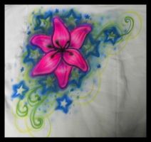 Airbrush- Flower design by vampireheartagram27