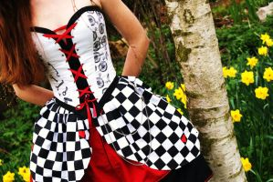 Wonderland Steampunk Dress 2 by Yazzzle
