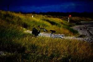 Bicycle on the beach by Markuslajer