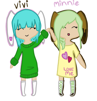 Free Request 1: Vivi and Minnie by Veegal