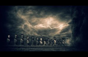 Apocalypse Now: Easter Island by PocColino