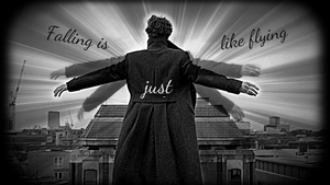Falling is just like flying Sherlock by Time-LadyO
