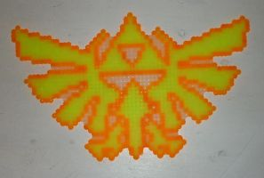 Hama Beads - Hyrule Crest II by acidezabs