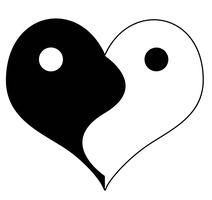 Ying-Yang Heart Symbol by Balrond