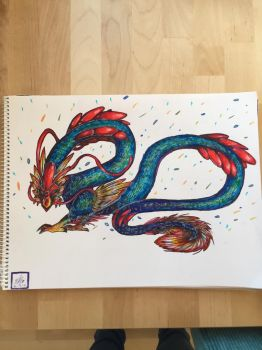 rooster dragon by Mahepii