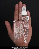 Papercut - indian - outfit - saree - india - paper by ParthKothekar