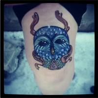 Owl Sharpie tattoo by MonteyRoo