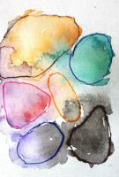 Rocks Watercolor ACEO by Erinwolf1997