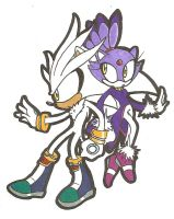 Silver and Blaze by ChaoticAngel09