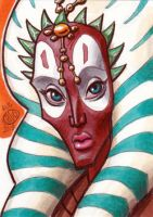 Shaak Ti Sketch Card by Chad73