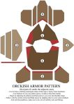 Orckish armor pattern by Zapan99