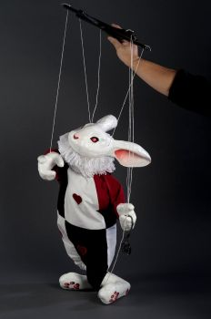 White Rabbit Puppet by AudreyBenjaminsen