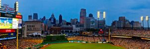 Panorama from Comerica Park by JeffreyDobbs