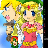 Zelda and Link: Windwaker by michirumakichi
