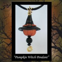 Pendant Pumpkin Witch by KabiDesigns
