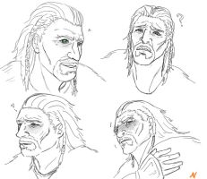 Ulfric Stormcloak: emotion practice by SparklyFarts