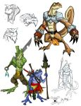 Portfolio Page 02: Lizards by chief-orc