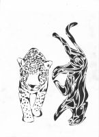 Tribal Big Cats by Cr8Insanity