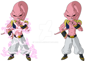 Chibi Majin Boo Gotenks Abs Color by Tazawa