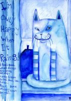 Im only happy when it rains by chesirecattie