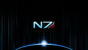 Mass Effect Wallpaper 1 - N7 by RayzorFlash