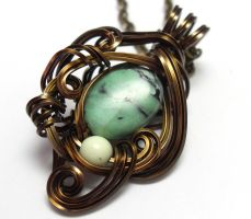 Serpent in Shadow Necklace by sojourncuriosities