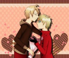 UsUk: very late Valentines Day by Amy-chan01