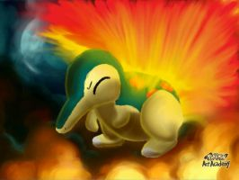 Cyndaquil Warming Up by IcelectricSpyro
