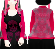 MMD Pink and Grey Jacket DL by 2234083174